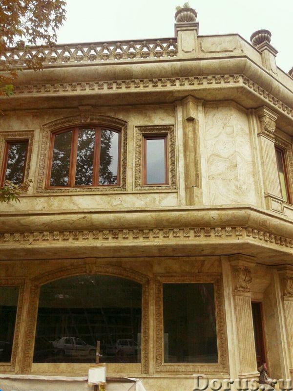Травертин камень облицовка фасада дома - Материалы для строительства - Травертин с полированной пове..., фото 1