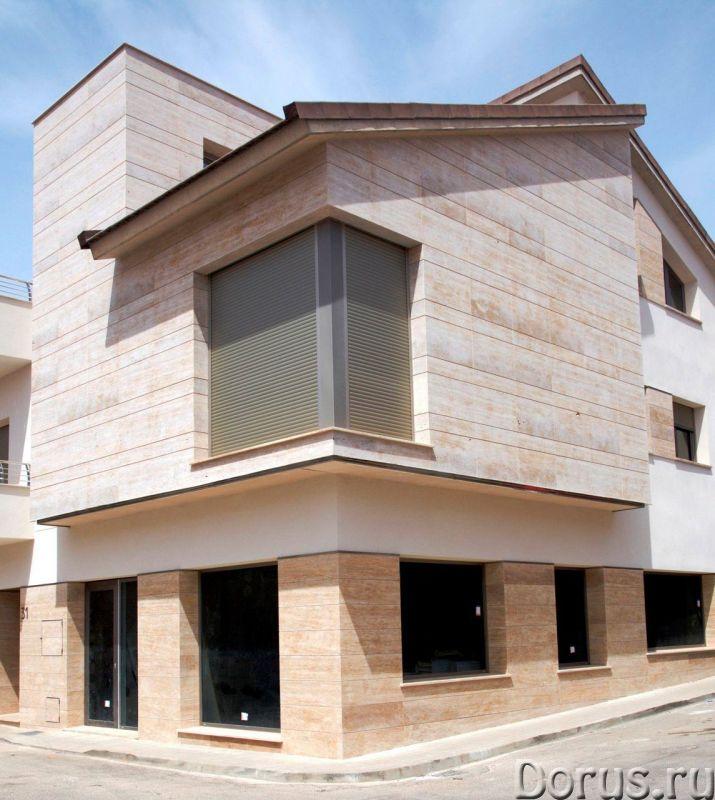 Травертин камень облицовка фасада дома - Материалы для строительства - Травертин с полированной пове..., фото 2
