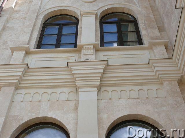 Травертин камень облицовка фасада дома - Материалы для строительства - Травертин с полированной пове..., фото 4