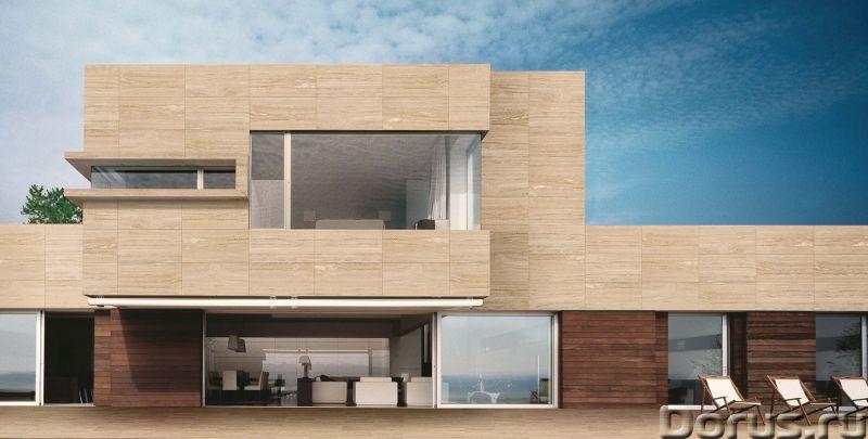 Травертин камень облицовка фасада дома - Материалы для строительства - Травертин с полированной пове..., фото 5