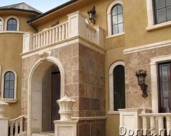 Травертин камень облицовка фасада дома - Материалы для строительства - Травертин с полированной пове..., фото 7