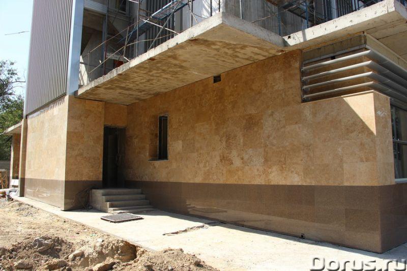 Травертин камень облицовка фасада дома - Материалы для строительства - Травертин с полированной пове..., фото 9