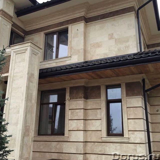 Травертин камень облицовка фасада дома - Материалы для строительства - Травертин с полированной пове..., фото 10