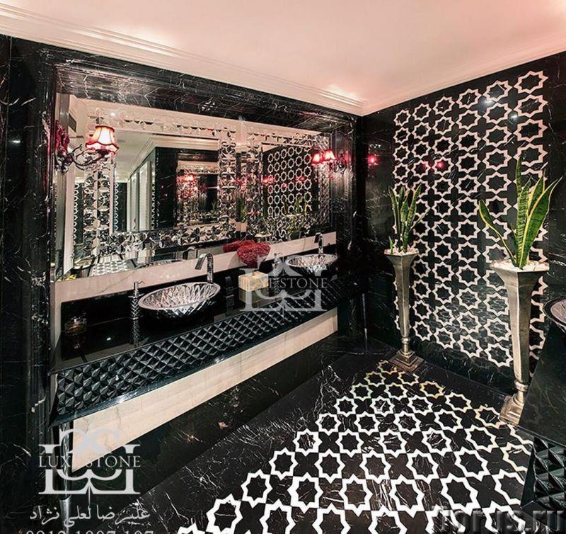 Мрамор в ванной комнате - Дизайн и архитектура - Его уникальная и сложная фактура позволяет создать..., фото 4