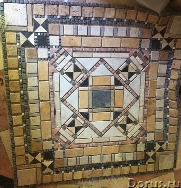 Напольные панно из натурального камня травертина мрамора - Материалы для строительства - Готовые нап..., фото 1