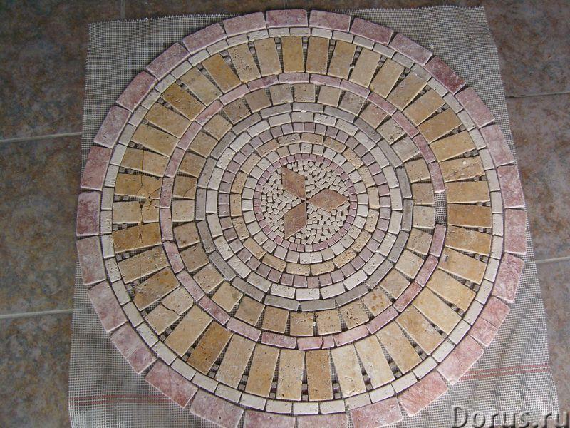 Напольные панно из натурального камня травертина мрамора - Материалы для строительства - Готовые нап..., фото 4