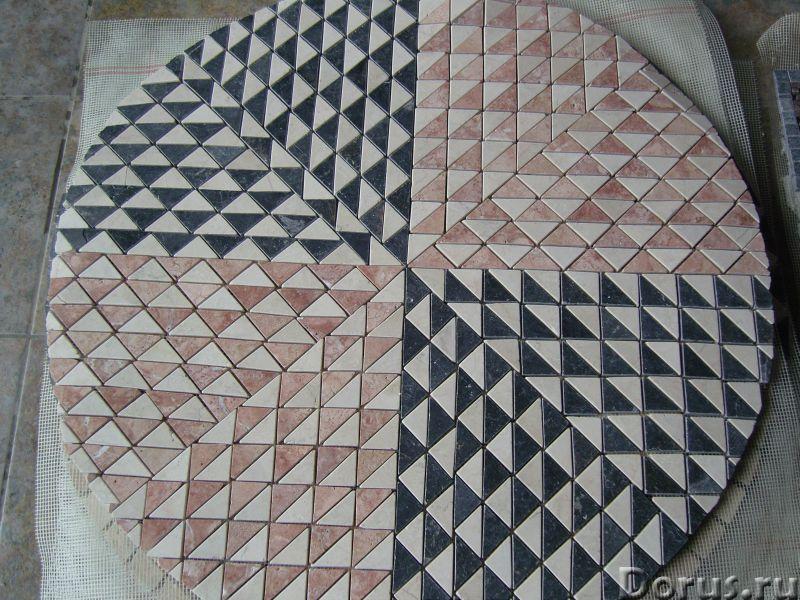 Напольные панно из натурального камня травертина мрамора - Материалы для строительства - Готовые нап..., фото 7