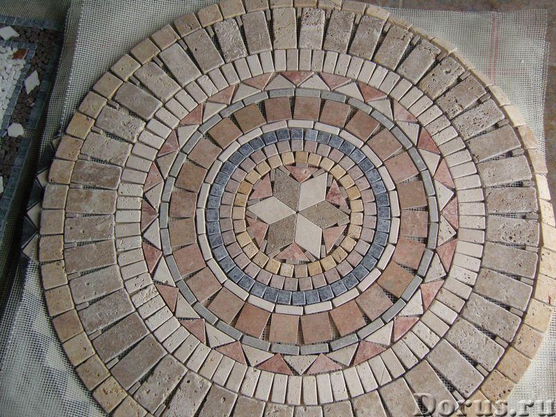Напольные панно из натурального камня травертина мрамора - Материалы для строительства - Готовые нап..., фото 8