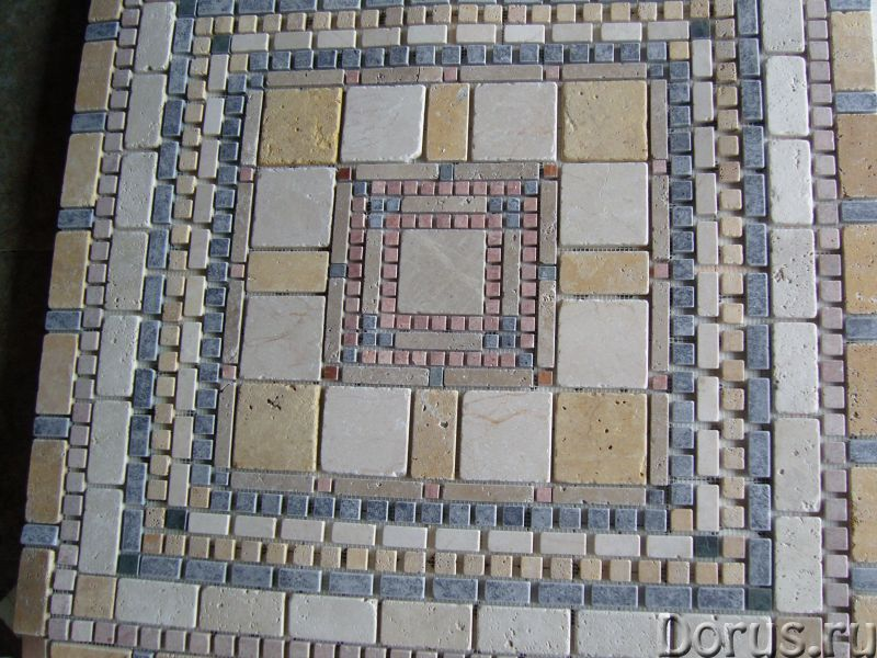 Напольные панно из натурального камня травертина мрамора - Материалы для строительства - Готовые нап..., фото 9